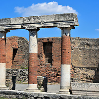 Temple of Vespasian at Forum in Pompeii, Italy<br />