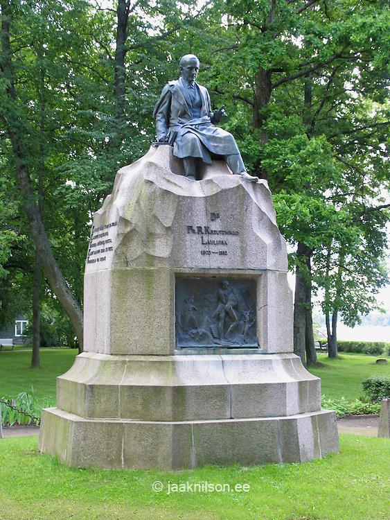 Fr. R. Kreutzwald Monument, Võru, Estonia, Europe