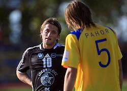 Dario Zahora (10) of Interblock and Jan Pahor (5) of Koper at 12th Round of PrvaLiga Telekom Slovenije between NK Luka Koper vs NK Interblock, on October 4, 2008, in SRC Bonifika in Koper, Slovenia. Interblock won the match 4:1. (Photo by Vid Ponikvar / Sportal Images)