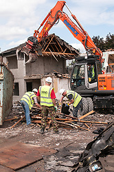 The demolition of council houses on an estate, Sheffield