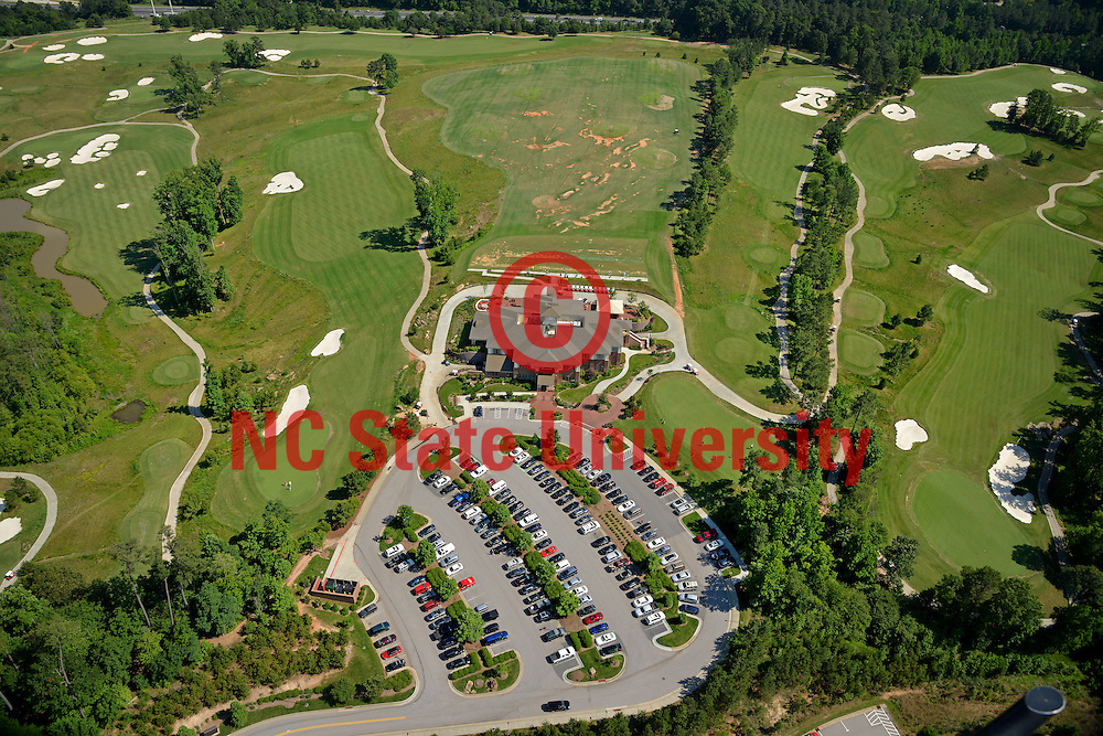 Aerial of Lonnie Poole Golf Course on Centennial Campus.