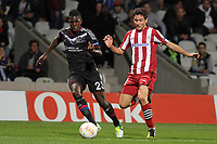 FOOTBALL - UEFA EUROPA LEAGUE 2012/2013 - GROUP STAGE - GROUP I - OLYMPIQUE LYONNAIS v ATHLETIC BILBAO - 25/10/2012 - PHOTO EDDY LEMAISTRE / DPPI - SAMUEL UMTITI  (OL) AND ANDER HERRERA  (ACB)