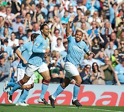 01.05.2011, City of Manchester Stadium, Manchester, ENG, PL, Manchester City FC vs West Ham United FC, im Bild Manchester City's Nigel De Jong celebrates scoring the opening goal against West Ham United during the Premiership match at the City of Manchester Stadium, EXPA Pictures © 2011, PhotoCredit: EXPA/ Propaganda/ D. Rawcliffe *** ATTENTION *** UK OUT!