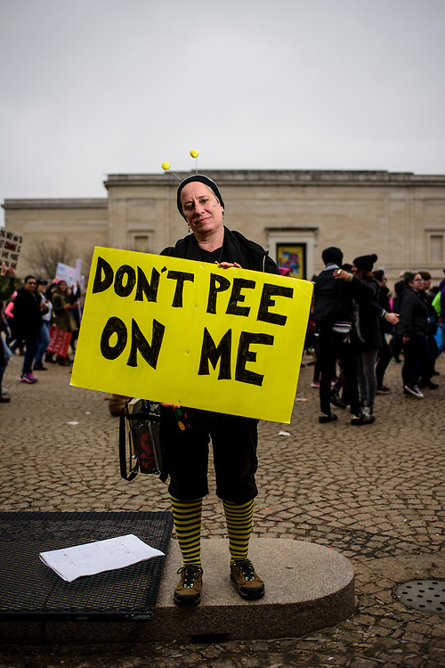 Washington, D.C. - January 21, 2017: Val Ball, 52, North Carolina.<br /> <br /> An estimated half a million people showed up to the nation's capital for the Women's March on Washington Saturday January 21, 2106.<br /> <br /> <br /> CREDIT: Matt Roth for Buzzfeed