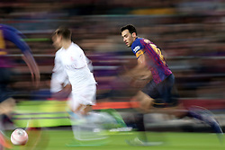 December 5, 2018 - Barcelona, Spain - Sergio Busquets during the match between FC Barcelona and Cultural Leonesa, corresponding to the 1/16 final of the spanish King Cuo, played at the Camp Nou Stadium on 05th December 2018 in Barcelona, Spain. Photo: Joan Valls/Urbanandsport /NurPhoto. (Credit Image: © Joan Valls/NurPhoto via ZUMA Press)