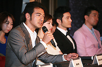 Takeshi Kaneshiro speaking at Press Conference for John Woo's forthcoming film The Crossing, Saturday 17th May 2014, Cannes, France.