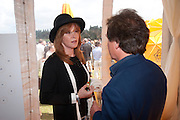 STEPHANIE POWERS, Veuve Clicquot Gold Cup. Cowdray Park on July 20, 2008 . Midhurst, England.