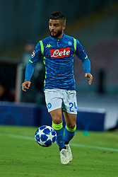 NAPLES, ITALY - Wednesday, October 3, 2018: Napoli's Lorenzo Insigne during the UEFA Champions League Group C match between S.S.C. Napoli and Liverpool FC at Stadio San Paolo. (Pic by David Rawcliffe/Propaganda)