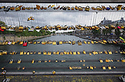 Love Padlocks on Pont des Arts Bridge in Paris France with Pont Neuf in the background