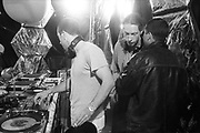 DJ spinning tunes, Ashton Court Festival, Bristol, UK, 1995.