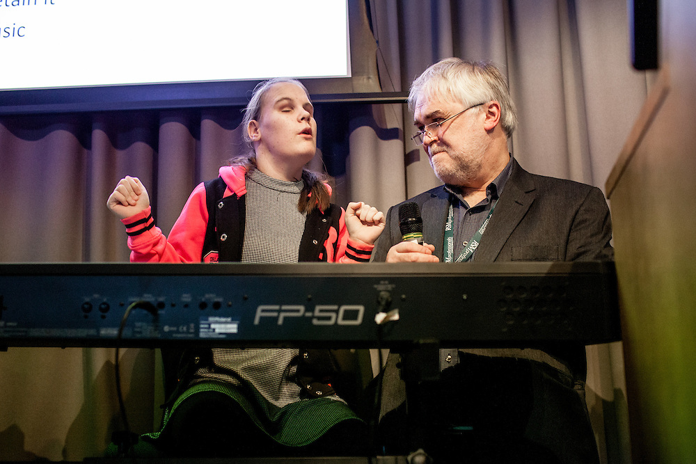 Music is a source of stimulation and of reflection for everyone and for all time. In modern times, music is provided to children affected by a range of conditions such as autism or chronic neurological disorders - but do we have the evidence of benefit which stands scrutiny?  <br /> <br /> Live Music Now has for years been promoting and organising professional musicians in special schools, hospitals, hospices and residential homes for the disadvantaged in society, principally for the young with disabilities and for the elderly, has won awards for its activities and is actively involved with projects to demonstrate the positive effects of such music interventions in improving health.<br /> This is the second conference organised jointly by Live Music Now and the Royal Society of Medicine. London, Monday 28 November 2016. (Photos/Ivan Gonzalez)