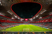 General view inside the Allianz Arena ahead of the Champions League match between Bayern Munich and Tottenham Hotspur at Allianz Arena, Munich, Germany on 11 December 2019.
