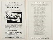 All Ireland Senior Hurling Championship Final,.Brochures,.04.09.1949, 09.04.1949, 4th September 1949, .Tipperary 3-11, Laois 0-3, .Minor Kilkenny v Tipperary, .Senior Tipperary v Laois, .Croke Park, ..Advertisements, Certistyle Irish Gown, ..Songs, Ireland's Hurling Men,