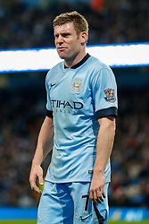 James Milner of Manchester City looks annoyed - Photo mandatory by-line: Rogan Thomson/JMP - 07966 386802 - 29/10/2014 - SPORT - FOOTBALL - Manchester, England - Etihad Stadium - Manchester City v Newcastle United - Capital One Cup Fourth Round.