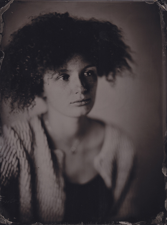Maya Bruun Farmelo, tintype image made with wetplate collodion process.