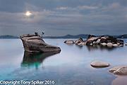 """Bonsai Rock Sunrise 2"" - A winter sunrise over Lake Tahoe at Bonsai Rock"