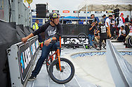 Gary Young during Men's BMX Park Practice at the 2013 X Games Barcelona in Barcelona, Spain. ©Brett Wilhelm/ESPN