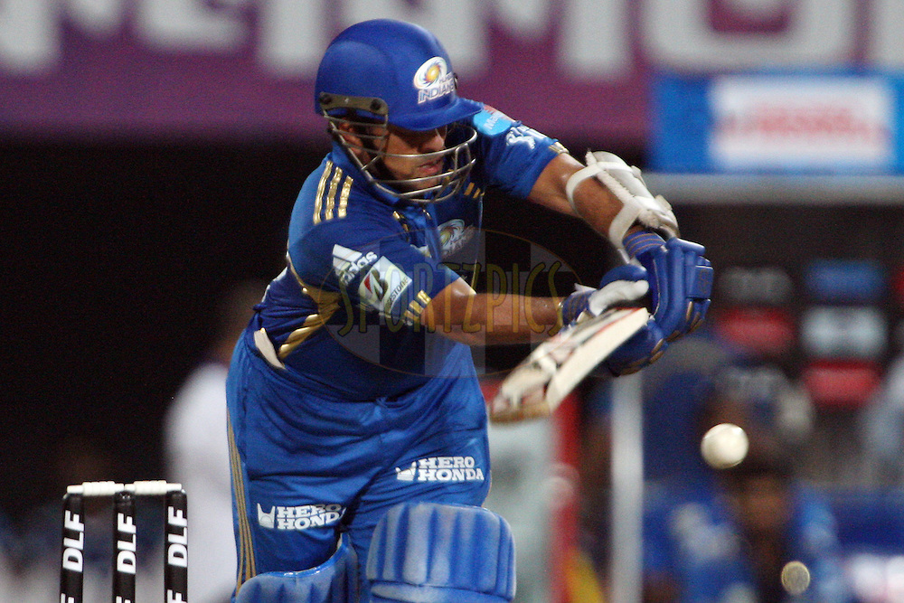 Sachin Tendulkar during match 70 of the Indian Premier League ( IPL ) between the Kolkata Knight Riders and the Mumbai Indians held at Eden Gardens Cricket Stadium in Kolkata, India on the 22nd May 2011..Photo by Jacques Rossouw/BCCI/SPORTZPICS.