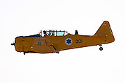 Israeli Air force North American Aviation T-6 Texan single-engine advanced trainer aircraft in flight