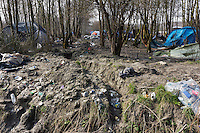 On the outskirts of Dunkirk in Northern France, opposite a relatively new housing estate and yards away from a modern garden center and outdoor clothing retailer Decathlon, sits the isolated and solitary remains of France&rsquo;s &lsquo;forgotten migrant camp&rsquo; -- Grande-Synthe.<br /> April 2016