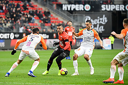 January 20, 2019 - Rennes, France - 18 HATEM BEN ARFA (REN) - 13 ELLYES SKHIRI  (Credit Image: © Panoramic via ZUMA Press)