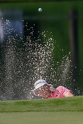 May 2, 2019 - Charlotte, NC, U.S. - CHARLOTTE, NC - MAY 02: Peter Malnati hits from the bunker on the 14th hole during the first round of the Wells Fargo Championship at Quail Hollow on May 2, 2019 in Charlotte, NC. (Photo by William Howard/Icon Sportswire) (Credit Image: © William Howard/Icon SMI via ZUMA Press)