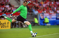 Goalkeeper of Croatia Stipe Pletikosa during  the UEFA EURO 2008 Group B soccer match between Austria and Croatia at Ernst-Happel Stadium, on June 8,2008, in Vienna, Austria.  (Photo by Vid Ponikvar / Sportal Images)