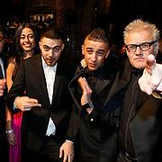 NLD/Amsterdam/20100215 - Premiere film Gangsterboys, Mimoun Oled Radi en Deniz Akkoyun, önder Dogan, Yes-R en regisseur Paul Ruven