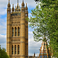 Victoria Tower at Palace of Westminster in London, England<br />