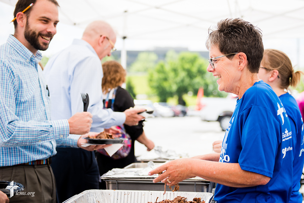 Photographs from the employee BBQ on Thursday, May 18, 2017, at the International Center of The Lutheran Church–Missouri Synod in St. Louis. LCMS Communications/Erik M. Lunsford
