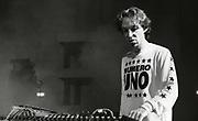 Mike Pickering, Happy Mondays performing at Granada TV Studios, Manchester, 1989