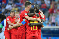 kollektiver Torjubel um Romelu LUKAKU (BEL,re) nach Tor zum 2-0m Aktion,Jubel,Freude,Begeisterung, Belgien (BEL) - Panama (PAN) 3-0, Vorrunde, Gruppe G, Spiel 13, am 18.06.2018 in SOTSCHI,Fisht Olymipic Stadium. Fussball Weltmeisterschaft 2018 in Russland vom 14.06. - 15.07.2018. *** Collective Torjubel to Romelu LUKAKU BEL re after goal to 2 0m action cheers delight enthusiasm Belgium BEL Panama PAN 3 0 preliminary round group G match 13 on 18 06 2018 in SOCHI Fisht Olymipic Stadium Football World Cup 2018 in Russia from 14 06 15 07 2018