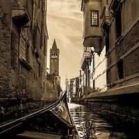 Where: Venice, Italy. Of course I had to go on a gondola. Great experience.