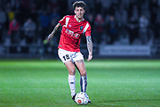 Danny Whitehead of Salford City (18) in action during the Vanarama National League match between Salford City and FC Halifax Town at Moor Lane, Salford, United Kingdom on 14 August 2018.