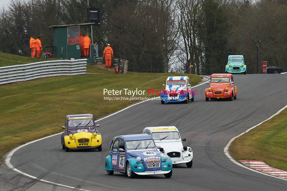 #40 Chris YATES Citroen 2CV 602 during 2CVParts.com Classic Championship as part of the BARC NW - Championship Raceday  at Oulton Park, Little Budworth, Cheshire, United Kingdom. March 19 2016. World Copyright Peter Taylor/PSP. Copy of publication required for printed pictures.  Every used picture is fee-liable.