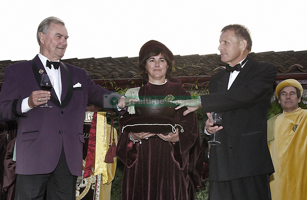 File photo - Prince Henrik of Denmark and TV anchor Patrick Poivre d'Arvor are honored as commanders during the Chateau Smith Haut Laffite Flower Party held at Martillac, near Bordeaux, France on June 21, 2007. Prince Henrik, the French-born husband of Denmark's Queen Margrethe II, has died, the palace announced Wednesday. He was 83. Photo by ABACAPRESS.COM