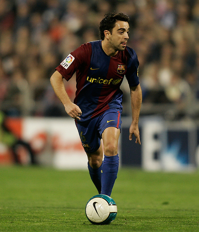 Xavi Hernandez of Barcelona and Spain. 2007/2008