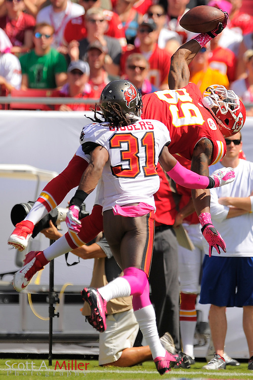 Kansas City Chiefs wide receiver Jon Baldwin (89) during the Chiefs game against the Tampa Bay Buccaneers at Raymond James Stadium  on Oct. 14, 2012 in Tampa, Florida. ..(SPECIAL TO FOXSPORTS.COM/Scott A. Miller)...
