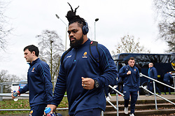 Joe Taufete'e and the rest of the Worcester Warriors team arrive at Allianz Park - Mandatory byline: Patrick Khachfe/JMP - 07966 386802 - 29/12/2018 - RUGBY UNION - Allianz Park - London, England - Saracens v Worcester Warriors - Gallagher Premiership Rugby