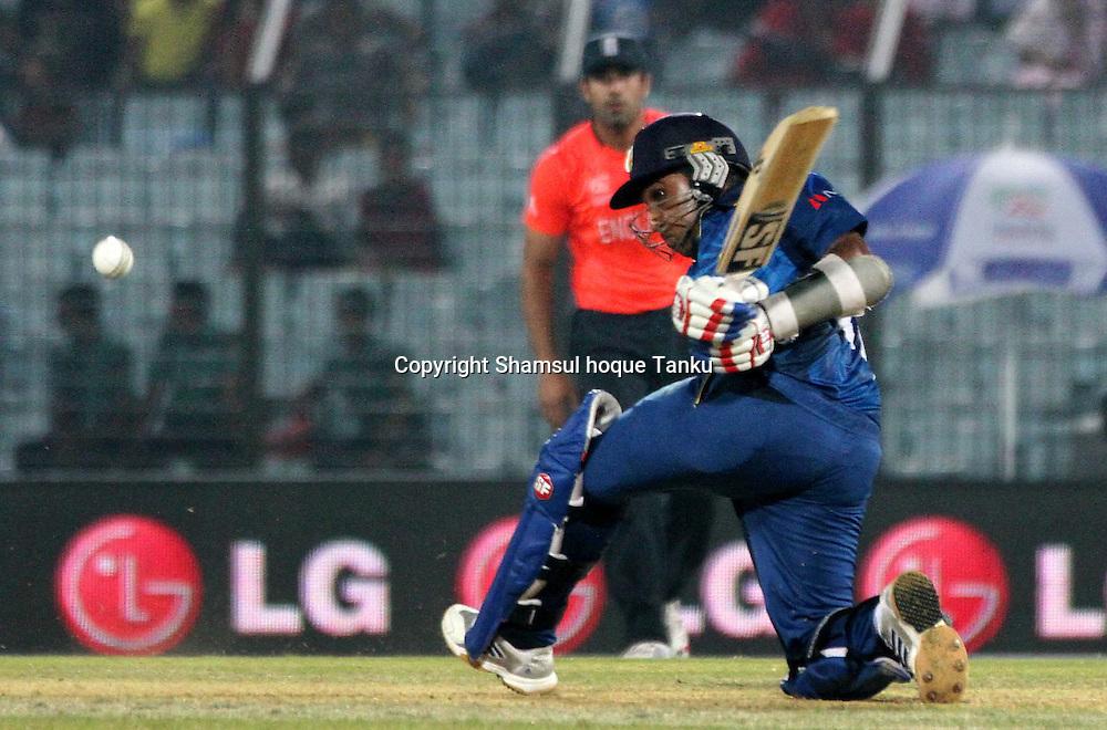 Mahela Jayawardene batting - England v Sri Lanka - ICC World Twenty20, Bangladesh 2014. 28 March 2014, Zahur Ahmed Chowdhury Stadium, Chittagong. Photo: Shamsul hoque Tanku/www.photosport.co.nz