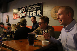 Steve Ivey has a one ramekin cake baked for him by Palmer, Wednesday, Feb. 25, 2015 at Country Boy Brewery in Lexington.
