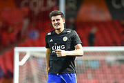 Leicester City Defender, Harry Maguire (15) during the Premier League match between Bournemouth and Leicester City at the Vitality Stadium, Bournemouth, England on 15 September 2018.