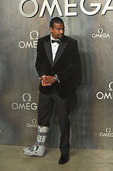 © Licensed to London News Pictures. 26/04/2017. London, UK. DAVID HAYE wearing a leg plaster  attends the Omega party celebrating 60 Years of the Speedmaster watch. Photo credit: Ray Tang/LNP