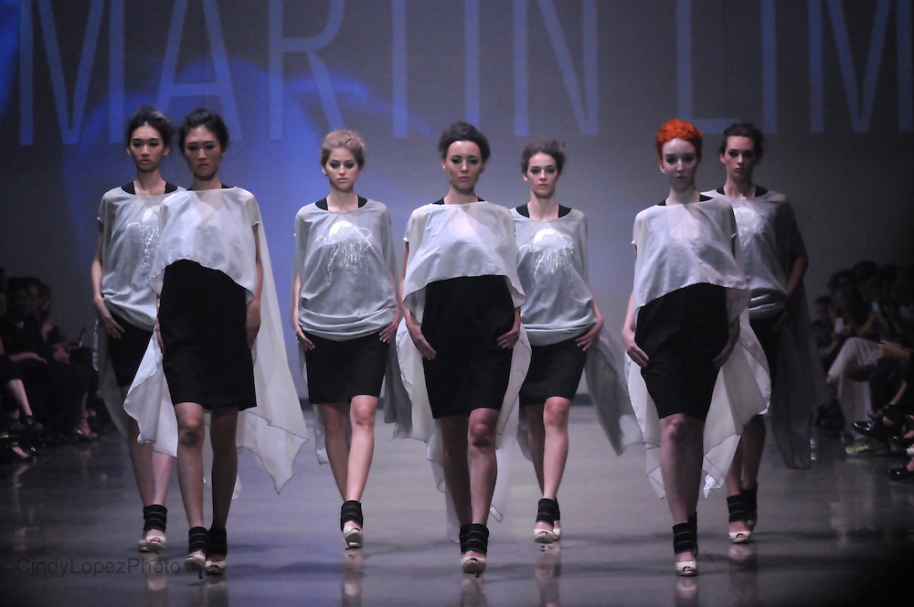 Martin Lim unveils his Spring/Summer 2014 collection at the 25th Montreal Fashion Week at Arsenal. September 2013. (Cult MTL)