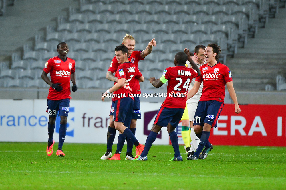 Joie Simon KJAER - 14.01.2014 - Lille / Nantes - 1/4Finale Coupe de la Ligue<br />