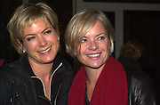 Penny Smith and Mariella Frostrup. How to be a Domestic Goddess. Nigella Lawson book party. 16 October 2000. © Copyright Photograph by Dafydd Jones 66 Stockwell Park Rd. London SW9 0DA Tel 020 7733 0108 www.dafjones.com