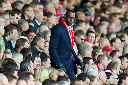 15-10-2011-2010 VOETBAL: LIVERPOOL - MANCHESTER UNITED: LIVERPOOL<br />  Miami Heat basketball player LeBron James in the stands during the Premiership match between Liverpool and Manchester United at Anfield<br /> +++ OUT OF ENGLAND +++<br /> ©2011-FRH-nph / D. Rawcliffe