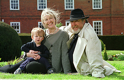 Newport, Essex home of John Bellany and his wife Helen, and his grandson Luke, UK, April 21, 2000. Photo by Andrew Parsons / i-images..