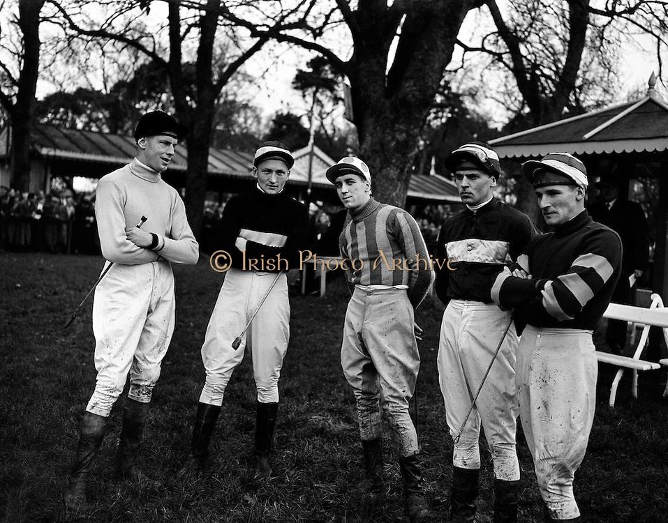 Racing at Leopardstown, Irish Jockeys.30/12/1958