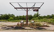 Gas station wrecked by Hurricane Katrina and abandoned; Hwy. 46, Florissant Hwy near Shell Beach, Louisiana